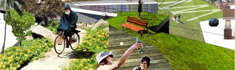 Biblioteca, viviendas y parque en Montoro 02