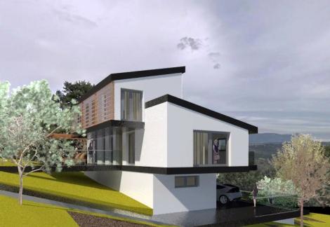 Chalet Bioclimático en Cotos de Monterrey_Jtem Arquitectura_Vista 3D 2