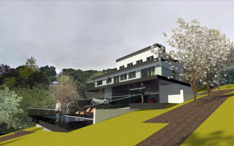 Chalet Bioclimático en Cotos de Monterrey_Jtem Arquitectura_Vista 3D 3