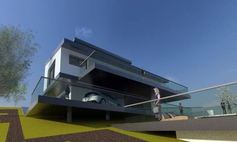 Chalet Bioclimático en Cotos de Monterrey_Jtem Arquitectura_Vista 3D 6