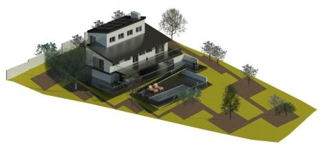 Jtem Arquitectura_Vivienda bioclimática en Cotos de Monterrey_Tietar 3_Vista isométrica 1