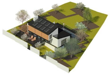Jtem Arquitectura_Vivienda bioclimática en Cotos de Monterrey_Tietar 3_Vista isométrica 2